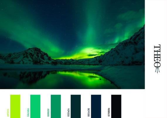 Pantone aurora borealis