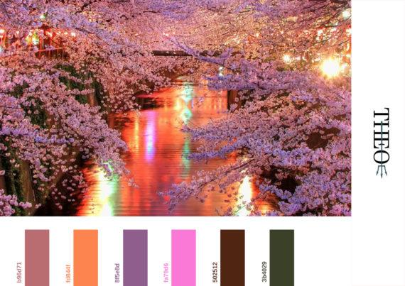 Pantone cherry trees