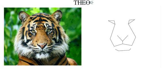 schematized tiger